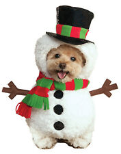 Walking Frosty The Snowman Pet Dog Cat Winter Christmas Holiday Costume