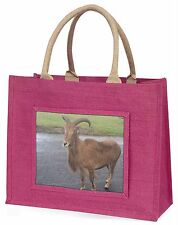Cute Nanny Goat Large Pink Shopping Bag Christmas Present Idea, GOAT-1BLP