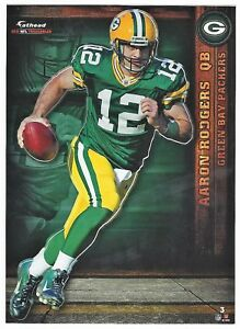 AARON RODGERS GREEN BAY PACKERS CAL GOLDEN BEARS FATHEAD TRADEABLES 2012 #3 HTF