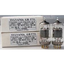 1MP GB 5751 ECC83 12AX7 Sylvania gold pins Gold Brand Amplitrex tested#424068&92