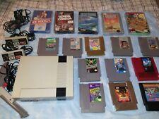 ORIGINAL NES NINTENDO SYSTEM WITH 16 GAME LOT