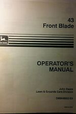 John Deere 43 Blade 110 112 214 212 Garden Tractor Owner & Parts (2 Manuals) 34p
