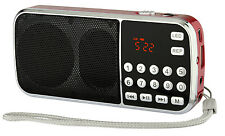 New Portable Digital Mp3 Radio Speaker Am/Fm Usb Tf Led 4W Battery Powered