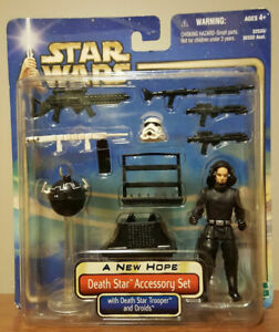Star Wars DEATH STAR ACCESSORY SET - w-DS Trooper & Droids 2002 ANH FREE Shippin