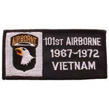 MILITARY EMBROIDERED PATCH - 101st AIRBORNE. VIETNAM -- IRON-ON -- NEW 4x2""