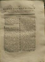 1791 NUOVO GIORNALE D'ITALIA: ENOLOGIA VINO VERONESE; POTATURA DELLE VITI