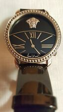 Versace Women's Krios Stainless Micro Spheres Black Watch