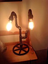 Steampunk Vintage/Retro industrial engineering Double  bulb Desk,Table Lamp