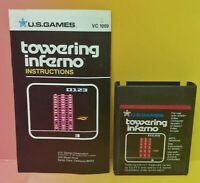 Atari 2600 Towering Inferno Game & Instruction Manual Tested Works Rare