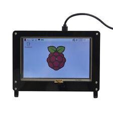 Raspberry Pi 5 inch LCD Screen Acrylic Case Bracket - Black