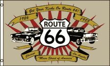 New listing Route 66 Flag 3x5 Ft Banner Usa Highway Road America Cars Get Your Kicks Last 1!