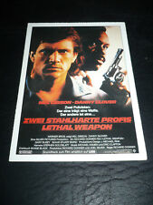 LETHAL WEAPON, film card [Mel Gibson, Danny Glover, Gary Busey]