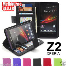 Premium Slim PU Leather Flip Case Cover For Sony Xperia Z2