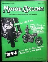 MOTOR CYCLING MAGAZINE JULY 12 1956 - BSA
