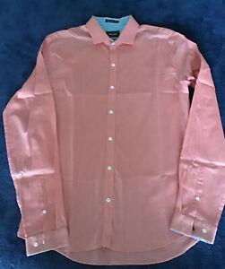NWOT Pierre Cardin Super Slim Cotton L/S Shirt Sz L Neck 41/42