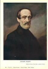 Stampa antica RITRATTO DI GIUSEPPE MAZZINI 1932 Old antique print