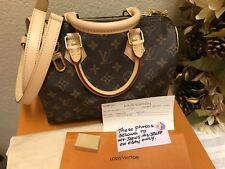 BRAND NEW LOUIS VUITTON MONOGRAM SPEEDY 25 BANDOULIERE NEW w/ RECEIPT