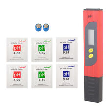 PH Meter Wasser Tester mit LED Anzeige für Chemie Trinkwasser Garten