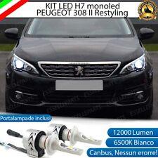 KIT LED H7 PEUGEOT 308 MK2 RESTYLING 6500K CANBUS 12000 LM MONO LED LENTICOLARE