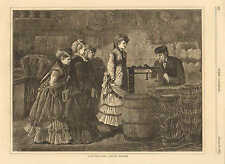 Winslow Homer, A Country Store - Getting Weighed Vintage 1871 Antique Art Print