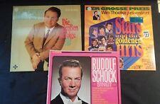 Lot of 3 Vintage German Folk & Popular Records ~  EX ~ See Pics for Titles