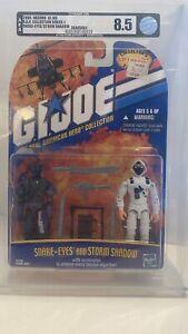 2000 GI JOE - RAH COLLECTION SERIES 1 SNAKE-EYES/STORM SHADOW AFA 8.5 NEW MOC
