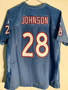 Reebok Women's Premier NFL Jersey TennesseeTitans Chris Johnson Lt 50th Ann sz M