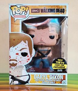 """Funko Pop Daryl Dixon Bloody 9"""" Toy Tokyo EXLUSIVE (LIMITED to 300 PCS. Only)"""