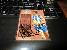 NORTH MELBOURNE - ANDREW SWALLOW SIGNED 2012 SELECT CHAMPION MILESTONE MG43 CARD