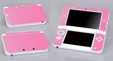 Pink Carbon Fiber Vinyl Decal Cover Skin Sticker for Nintendo 3DS XL/LL