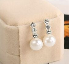 Screw Back (pierced) Alloy Acrylic Round Costume Earrings