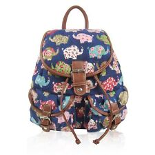 Printed Canvas Rucksack Patterned Retro Backpack