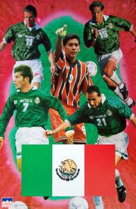 Team MEXICO Soccer World Cup 1998 Superstars POSTER - Blanco, Campos, Hernandez+
