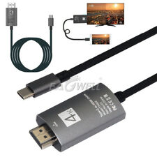For Samsung Galaxy S8 / S8 Plus 6ft USB-C Type-C to HDMI HDTV Adapter Cable 4K