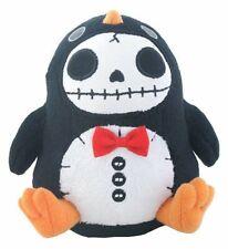 Furrybones Black Penguin Pen Pen w/ Red Bow Tie Skull Skeleton Small Plush Doll