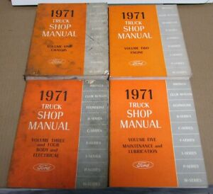 1971 Ford Truck Shop Service Manual Set Original Pickup Bronco Econoline 71