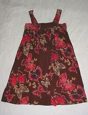 EUC Gap Kids Girls INTO THE WOODS Brown & Pink Butterfly Dress Size S 6/7