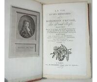 DEFOE Les aventures de Robinson Crusoë 19 gravures Delignon et Stothart 3/3 1800
