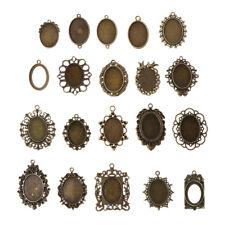 20pcs  DIY Mixed Cabochon Frames Bezel Tray Setting Pendants forJewelry Making
