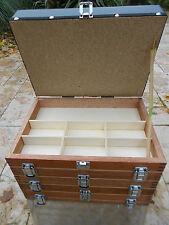 Sitzkiepe Holz Angelkoffer Angelsitz Forellenfischen 5 ladig