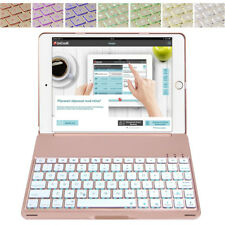 iPad 9.7 2018 6th 2017 5th iPad Air Backlit Keyboard Case Smart Cover Rose Gold