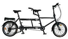 "Ecosmo 20"" Wheel New Folding Steel Tandem Bicycle Bike 7 Speeds - 20TF01BL"