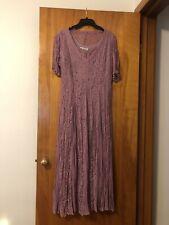 Vintage Together! Sheer Mauve Lace Maxi Dress Size 10