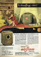D- Publicité Advertising 1961 Poele à mazout Airflam