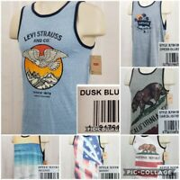 Levis Mens Tank Top Sleeveless Graphic Shirt New Choose Size And Style