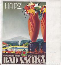 1939 GERMANY TRAVEL BROCHURE BAD SACHSA RESORT