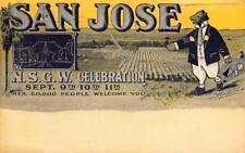 SAN JOSE, CA Electric Tower N.S.G.W. Celebration Bear Art 1909 Vintage Postcard