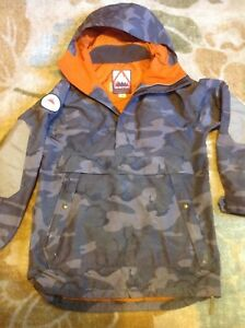 Burton Rambler Anorak Snowboard or ski insulated Jacket. Men's small. Camouflage