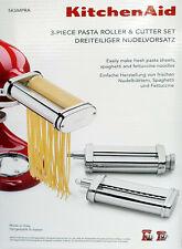 KitchenAid Nudelvorsatz 5KSMPRA,Pasta-Nudelwalze & -schneider 3-teilig,Edelstahl