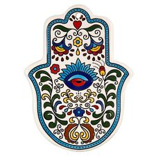 Hamsa Wall Hanging Evil Eye Ceramic Judaica Good Luck Israel Art Kabbalah